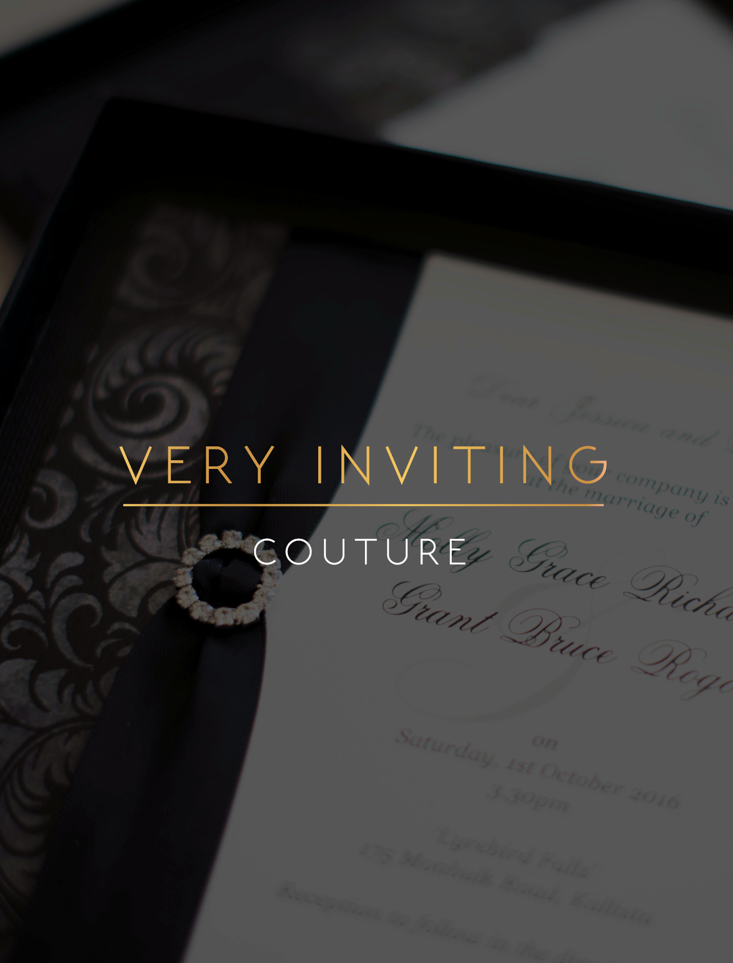 Very Inviting Couture Invitations Melbourne - Very Inviting Invitations Melbourne
